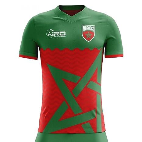 1f21cc846 Amazon.com : Airo Sportswear 2018-2019 Morocco Home Concept Football Soccer  T-Shirt Jersey : Clothing