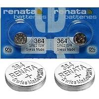 2x Batterie Montre Renata poignet-Fabriqué en Suisse-Sans Piles oxyde d'argent 0% Mercure Renata Pile bouton 1,55V piles longue durée