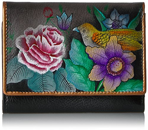 Anuschka Hand Painted Rfid Blocking Small Flap French Wallet | Vintage - French Coin Vintage