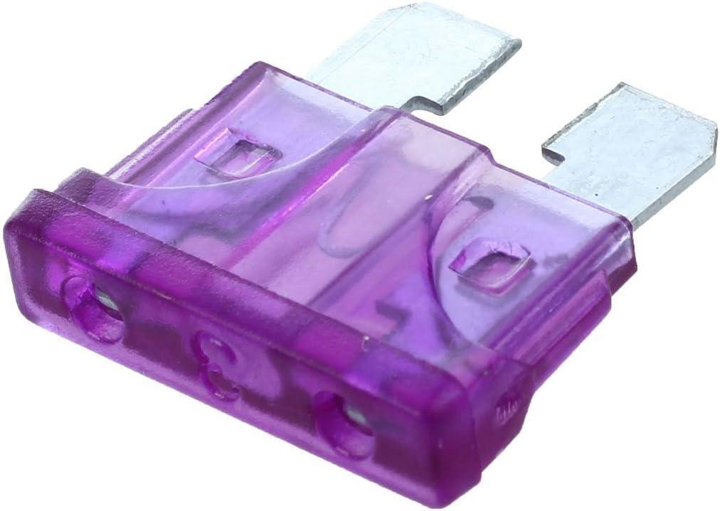 Kaxofang Fusible de Cuchilla del Coche 3A 3AMP Fusibles de Auto Caravana Purpura 10 pzs