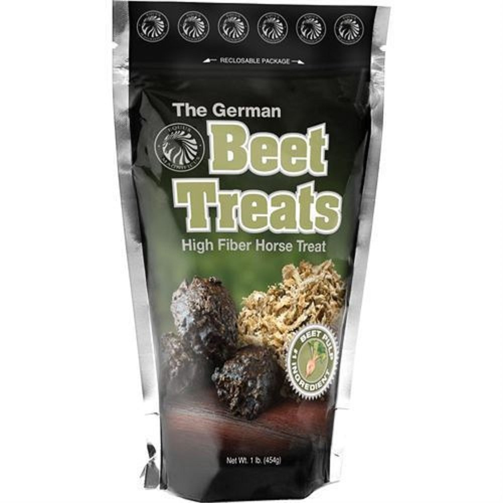 1# German Horse Pony Training Bite Size Beet Pulp High Fiber Content Treats Nuggets Muffin Snacks by The German