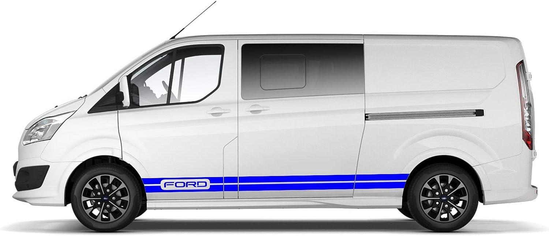 BLS Pegatinas de Vinilo con Franjas Laterales de Ford Transit Franja Delgada de la Puerta (Gris): Amazon.es: Coche y moto