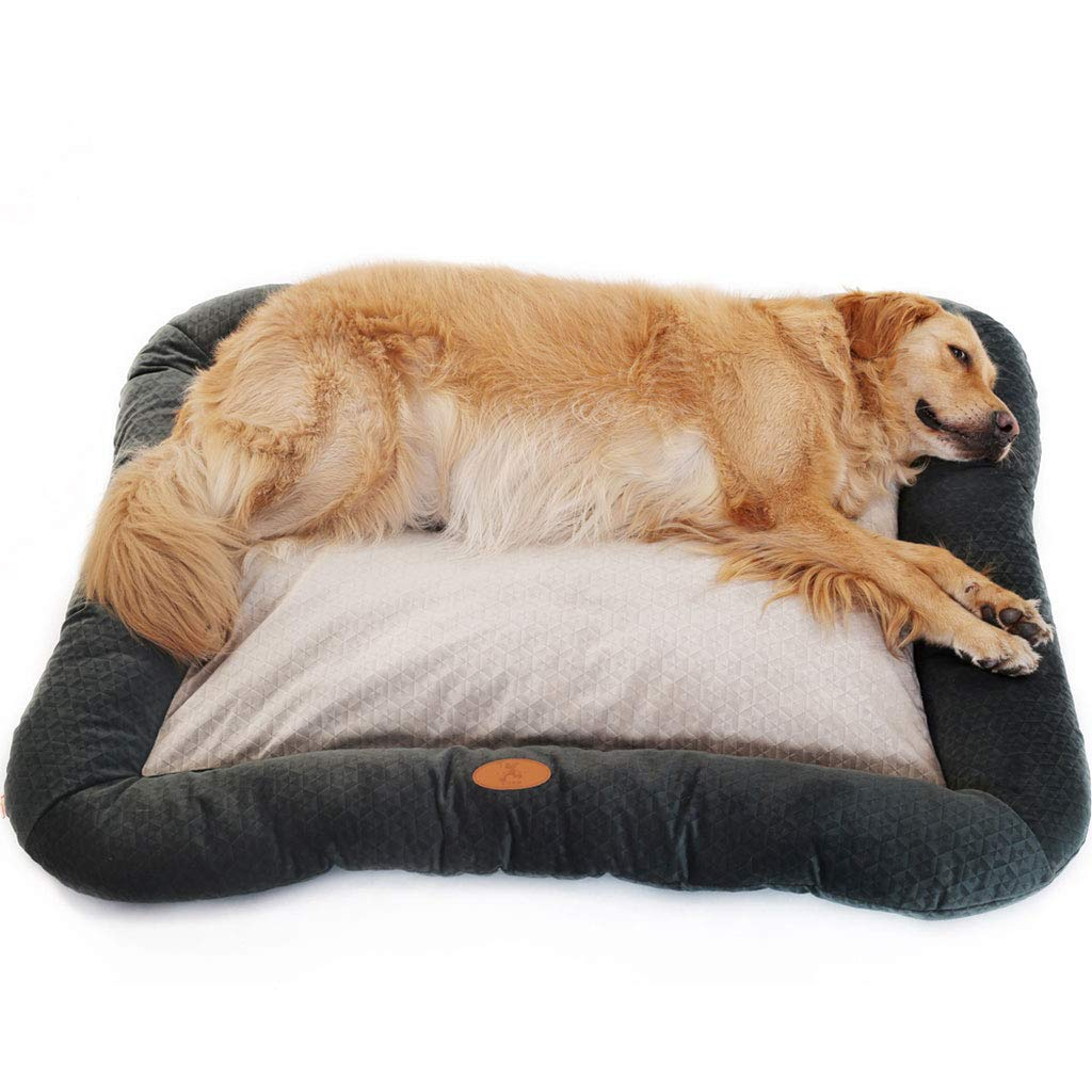 bluee 120100cm bluee 120100cm Pet Bed Soft Comfy Kennel Deluxe Plush Washable Cat Dog Bed Waterloo Removable Cushion CHENGYI (color   bluee, Size   120  100cm)