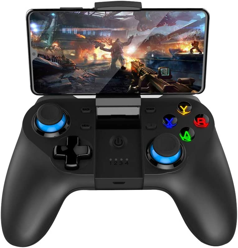 Mobile Game Controller, Wireless Gamepad Multimedia Game Controller Joystick Compatible with iOS/Android Mobile Phone/Tablet/PC/Smart TV