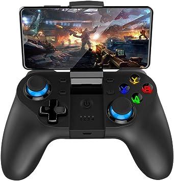 Controlador de Juegos para Dispositivos móviles, Mando de Juegos Multimedia inalámbrico Compatible con iOS/Android teléfono móvil/Tableta/PC/Smart TV: Amazon.es: Electrónica