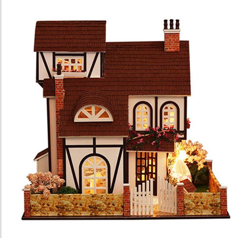 QIQI Dreidimensionales Puzzlespiel, DIY HäuschenBlaumenstadt Von Hand Zusammengebautes Hausmodelllandhausmodellspielzeug Kreativ Senden Jungenmädchengeschenk B07MGVCG2P 3D-Puzzles Der neueste Stil   | Für Ihre Wahl