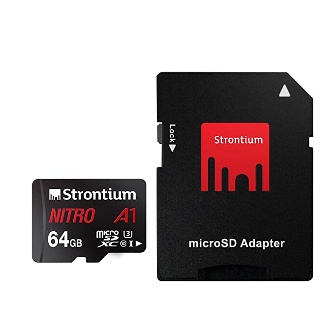 Strontium Technology Nitro A1 64GB micro SD with Adapter  100MB/s U3 C