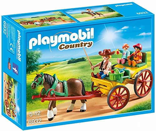 PLAYMOBIL® Horse-Drawn Wagon Building Set