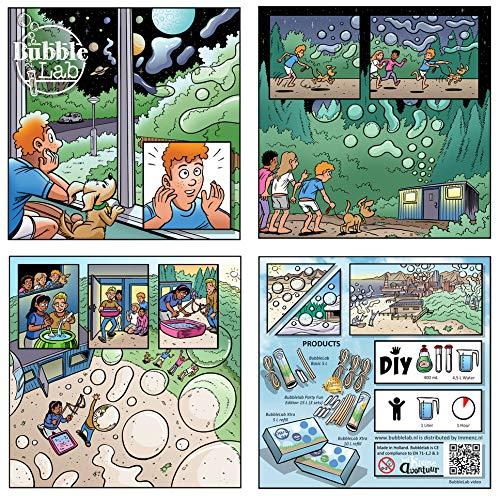 Riesenseifenblasenflüssigkeit fur kinder spielen im freien - Bubblelab - 10 liter DIY super Seifenblasenflüssigkeit - für mega Kinder Seifenblasen - 1 liter = 1 kind für 1 stunde - Nachfull Seifenblasenflussigkeit für Bubblelab sets - für kinder geschenk H