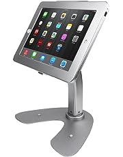 Angel POS ® iPad 2/3/4 air Desktop Rotation Base Anti-Theft POS Stand Holder Enclosure with Lock & Key for Retail Kiosk