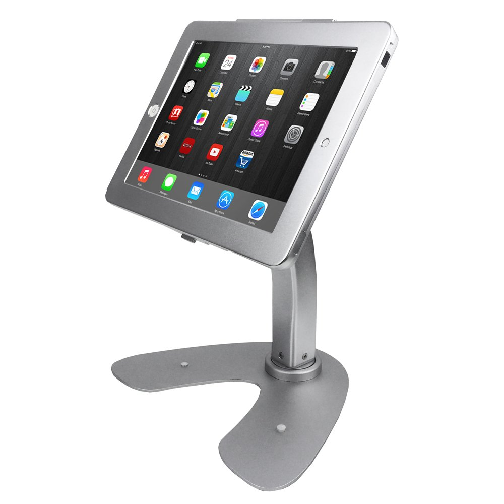 Angel POS ® iPad 2/3/4 air Desktop Rotation Base Anti-Theft POS Stand Holder Enclosure with Lock & Key for Retail Kiosk Angel Canada 1521011