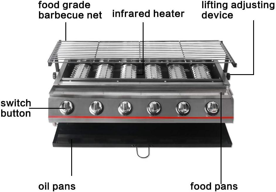 6 Grabadora Amarillo BBQ Parrilla de gas Acero – Rótulo ...