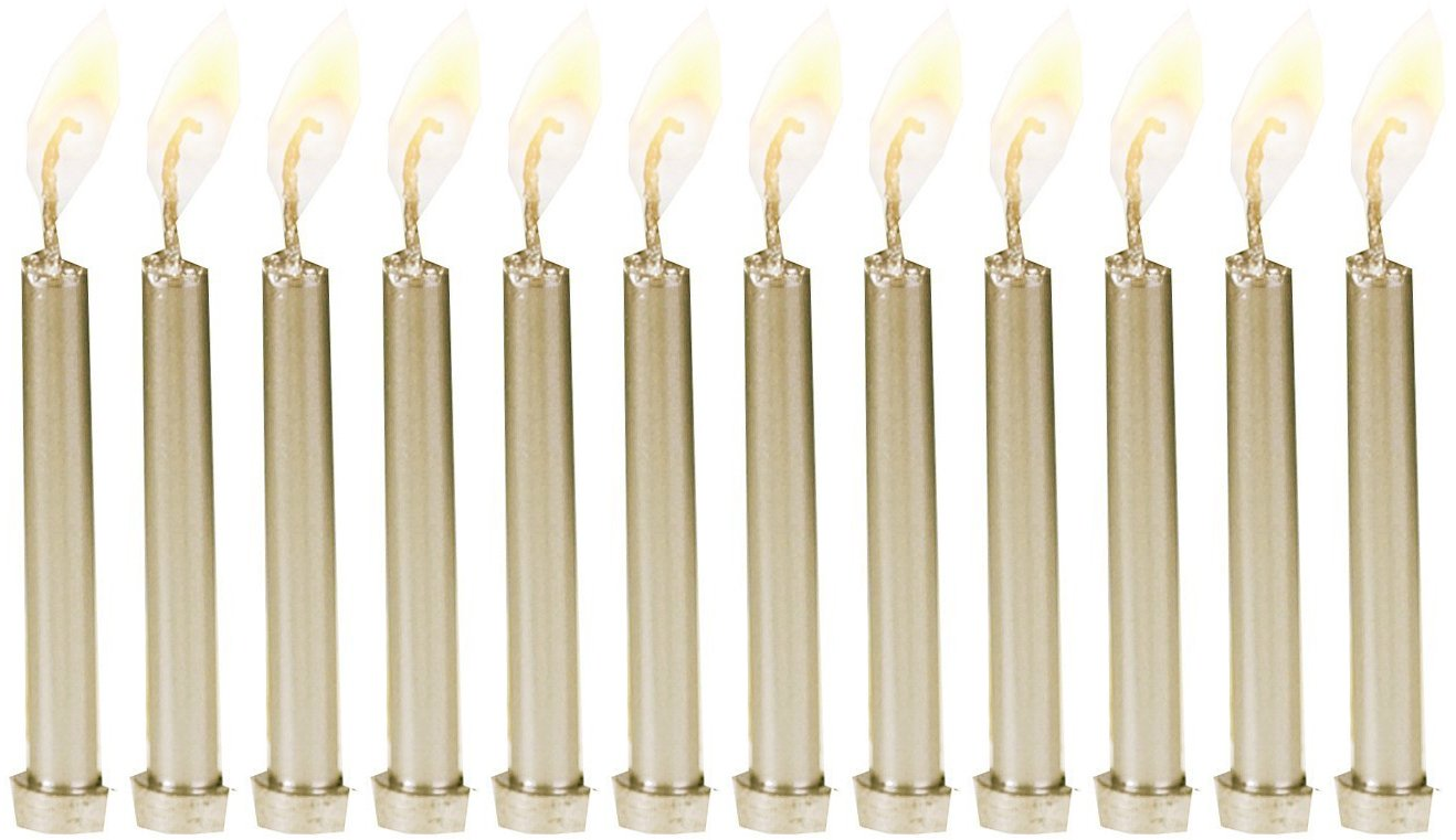 Biedermann & Sons 12 Metallic Birthday Candles in Holders, Gold Biedrmann & Sons C1603G