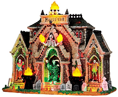 Lemax 35491 ALL HALLOWS MAUSOLEUM Spooky Town Lighted Building Halloween Decor ()