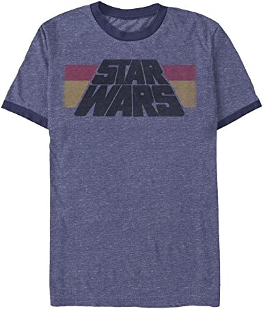 Mens Official Star Wars In A Galaxy Far Far Away T Shirt Heather Blue NEW