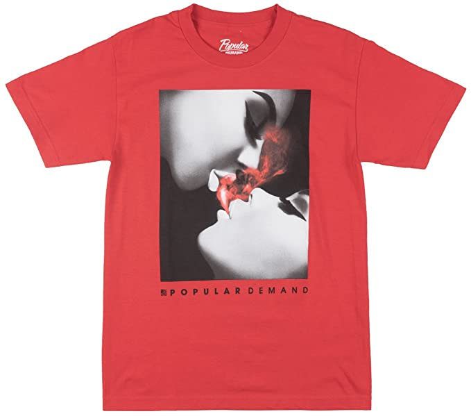da02c7fa Popular Demand Inhale Mens T-Shirt in Red | Amazon.com