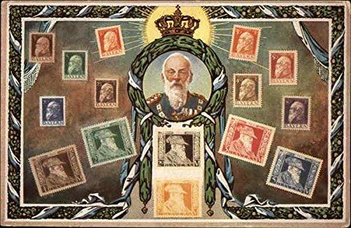 Ottmar Zieher Bayern Stamps Stamp Postcards Bavaria Original Vintage Postcard - Bavaria Stamp