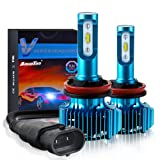 AmmToo H8 H9 H11 LED Bulb 6500K 12V Conversion Kit Led Headlight Bulbs 36W 9000LM White Car Fog Light