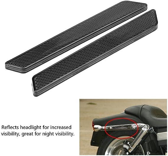 1 Paar Reflektoren Für Motorrad Verriegelungsabdeckungen Reflektoren Für Satteltaschen Verriegelungsabdeckungen Für Flht Flt Flhx 2014 2017 Smokey Auto