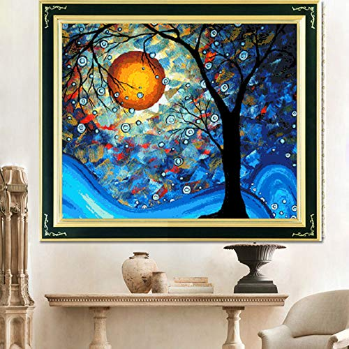 Faraway Dream Tree of Van Gogh Cross Stitch Kits, DIY Handmade Needlework Set Cross Stitching Accurate Stamped Patterns Embroidery Frameless Beginners Kids