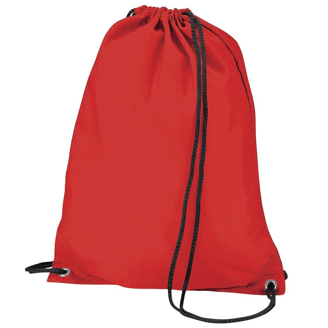 BagBase Budget Water Resistant Sports Gymsac Drawstring Bag (11L) (One Size) (Black) UTBC2538_1