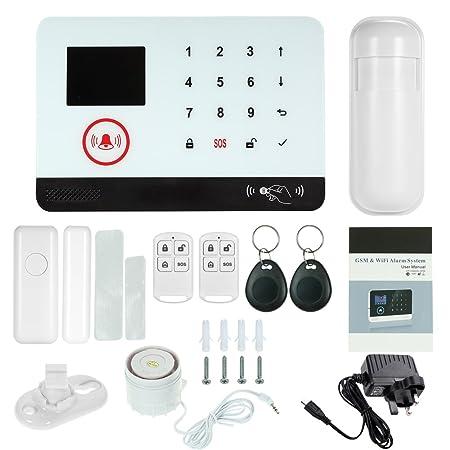 433MHz Wireless WiFi GSM Home Burglar Security Alarm System PIR Motion Detector