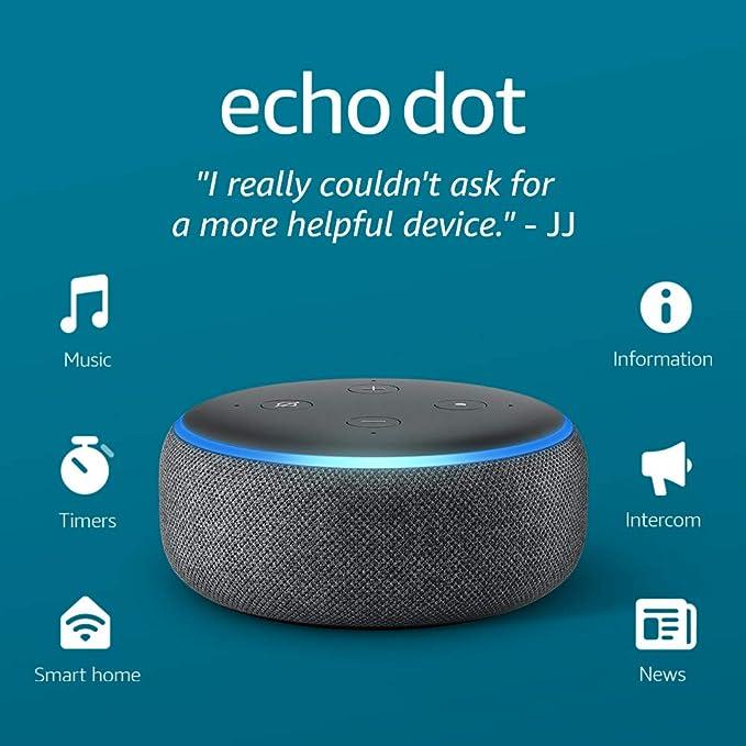 Amazon.com: Echo Dot (3rd Gen) - Smart speaker with Alexa - Charcoal: Amazon Devices