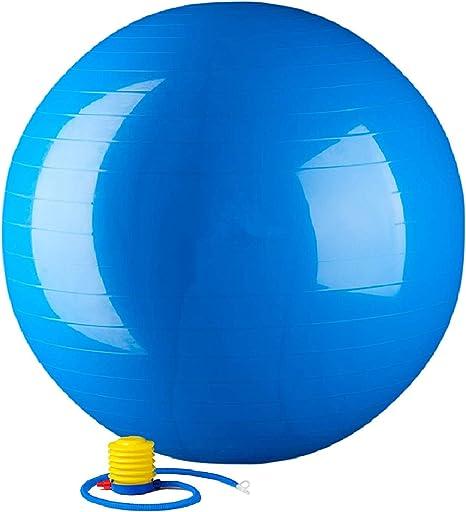Bola De Ginástica 65cm Azul Exercícios Yoga Pilates Embarazo Parto ...
