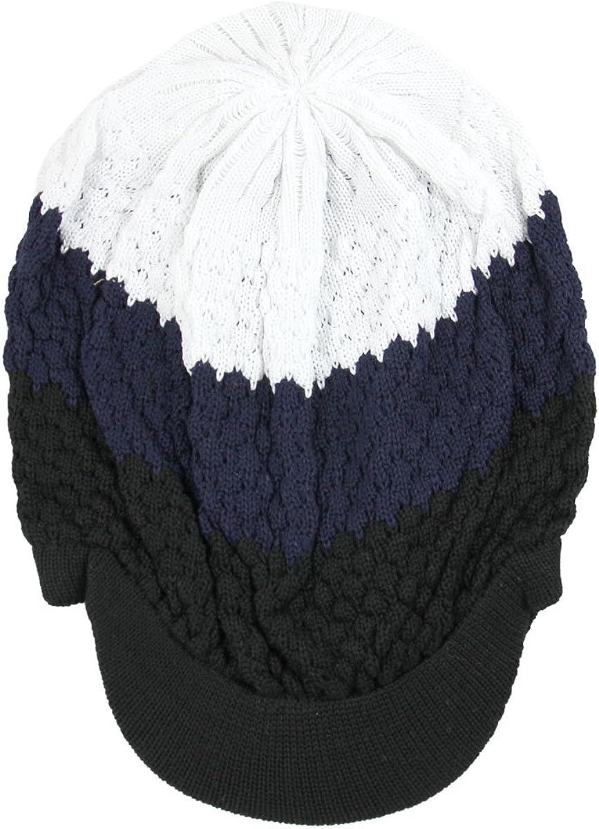 RW Unisex Cotton Classic Rasta Beanie Visor More Colors