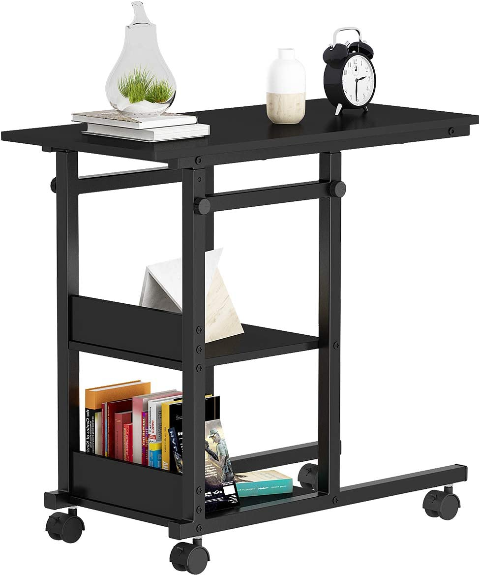 YITAHOME Height Adjustable Black Side Table End Table Bedside Table, Nightstand For Living Room, Easy Assembly - Black (Black): Kitchen & Dining - Amazon.com