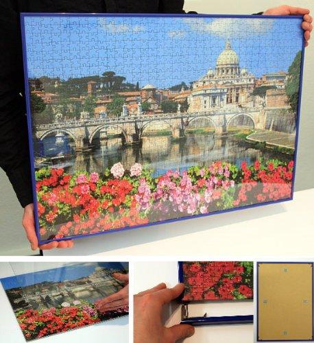 Cornice Su Misura Per Puzzle.Mira Le Cornici Relativemira Cornice Speciale Per Puzzle 37 5x98 Cm Panorama Nero Artificial Glass