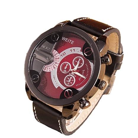 Xinantime Relojes Hombre,Xinan Análogos de Lujo Deporte Caja Acero del Cuero Cuarzo Reloj Pulsera