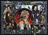 Innerwallz Game of Thrones Emilia Clarke Daenerys Targaryen Men Warriors Dragons Wall Art, Pop Art, Poster, Art Prints | Rare Posters