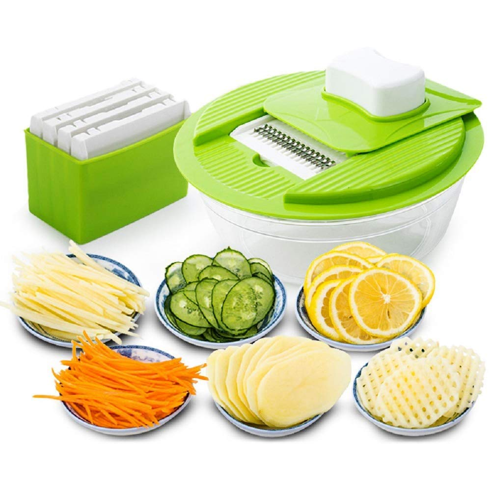 RUIMA Kitchen Supplies Multi-Function Cutting Vegetables Artifact Grater Shredded Rice Cooking Household Gadgets Beans Vegetable Cutters by RUIMA