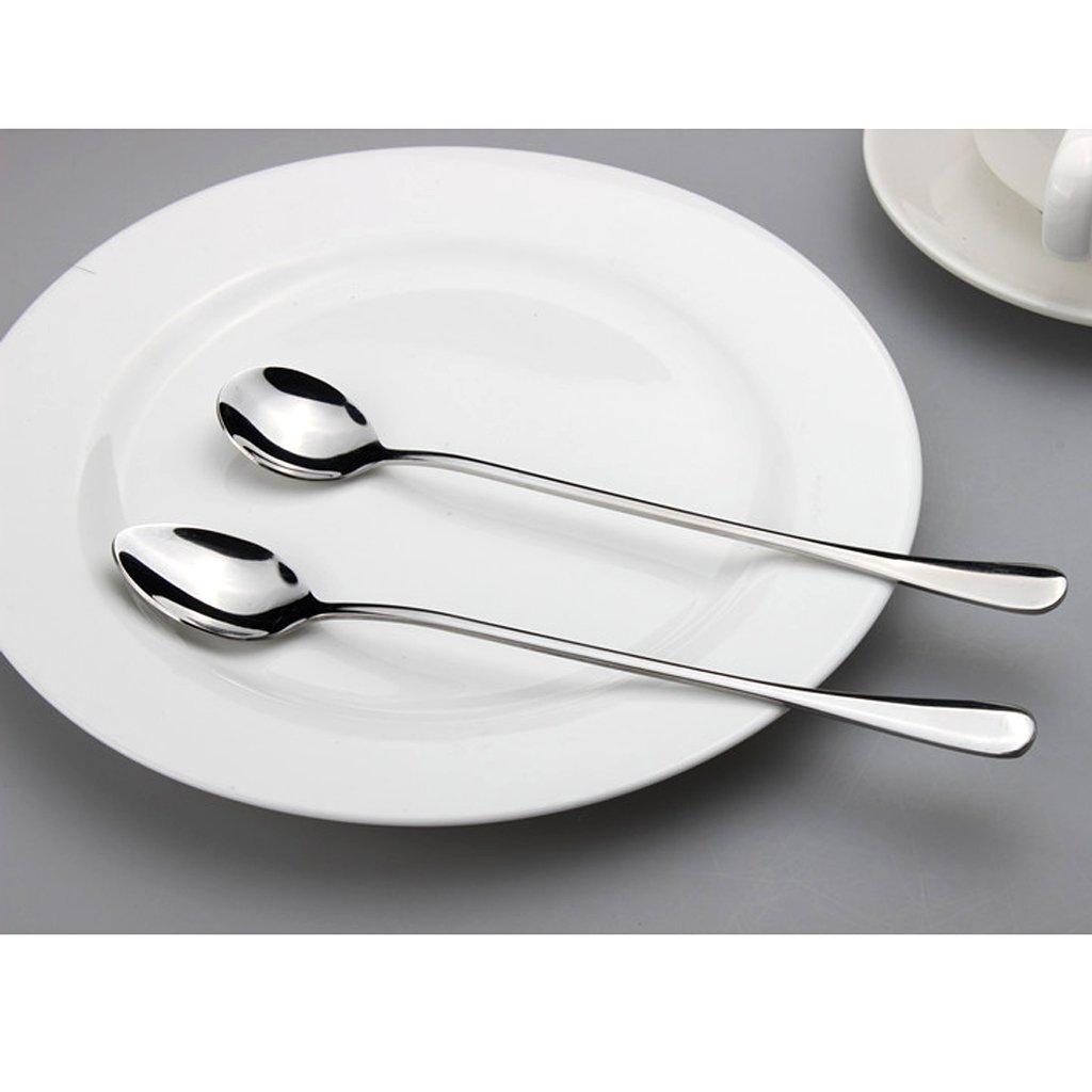 Sharplace 4X S/úper Largas Cucharas de Acero Inoxidable para Refrescos Caf/é Miel Cuchara Vajilla