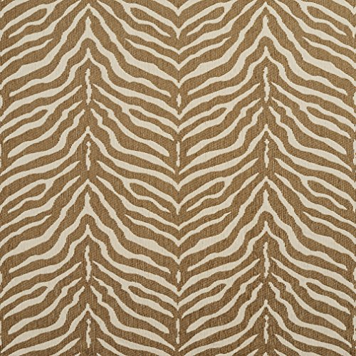 Zebra Natural Beige and White Animal Print Chenille Upholstery Fabric by the (Chenille Zebra Fabric)