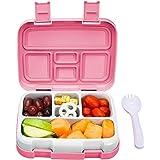 Redlemon Lonchera para Niños Tipo Bento Box de 5 Divisiones, Sellado Hermético Antiderrames, con Recipiente para Comida…