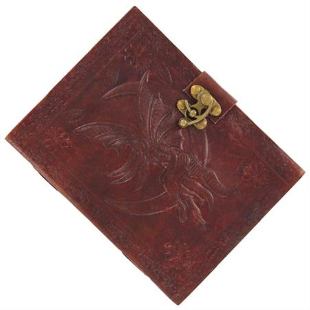 Moon Fairy Hand Crafted Leather Journal