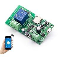 EACHEN WiFi Inlay inalámbrico Relé Momentáneo/Autoblocante Interruptor Inteligente DIY Hogar inteligente Gadget DC 5-32V…