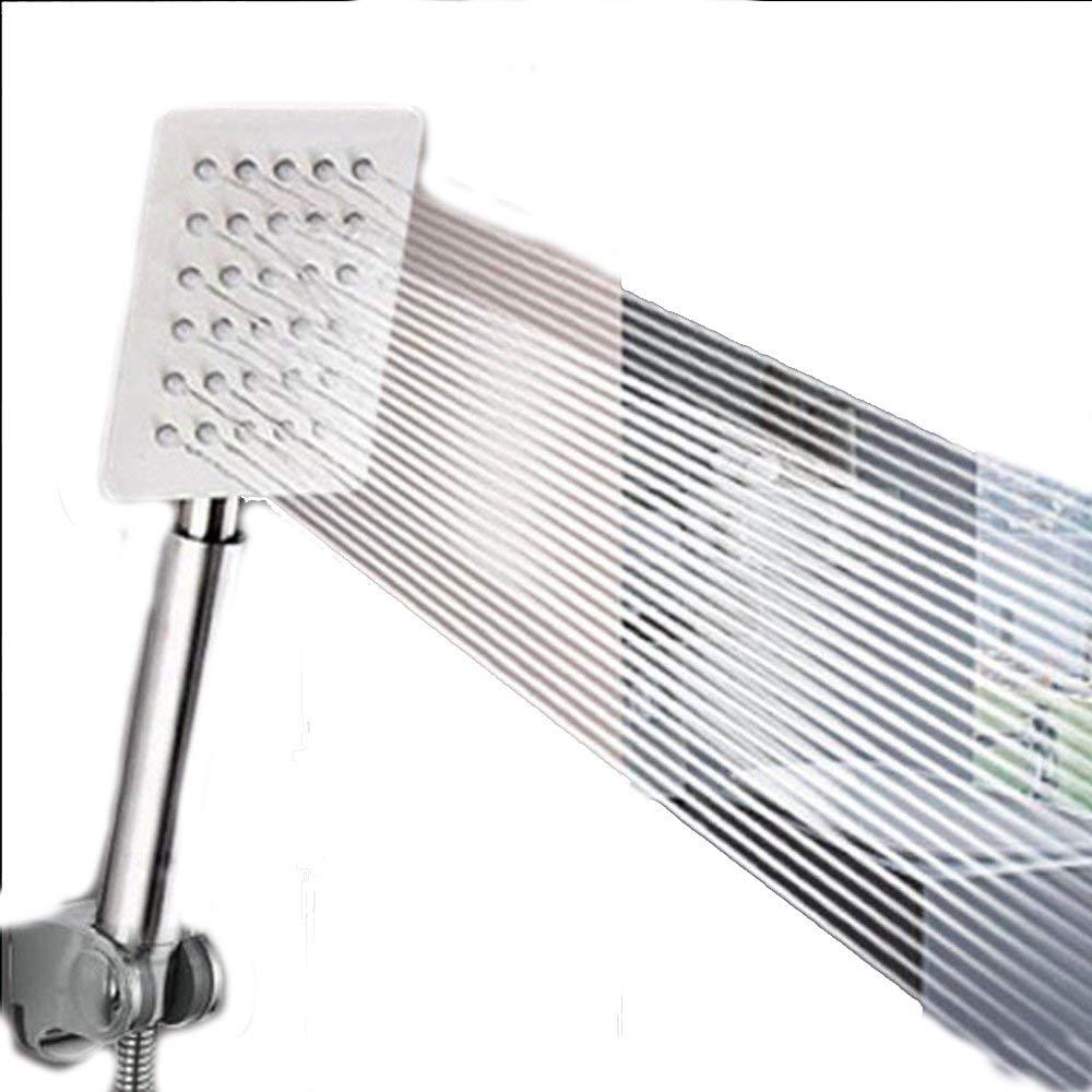 A 23.58CM Jiaju Bath shower rain booster stainless steel square hand shower set bath bath bath water heater nozzle