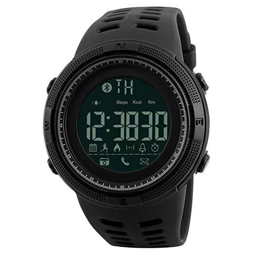 Skmei Relojes Hombre Digitales Inteligentes Impermeable Podómetro Bluetooth Reloj para Android IOS Deportivo Fitness Tracker Monitor de sueño: Amazon.es: ...