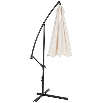 Pure Garden Offset Aluminum Hanging Patio Umbrella, 10u0027, ...