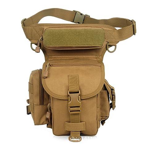 Senderismo Exterior Militar Táctico muslo Pierna Cintura Pack Bolsa de Pesca para 1000d Cordura Utilidad, Coyote
