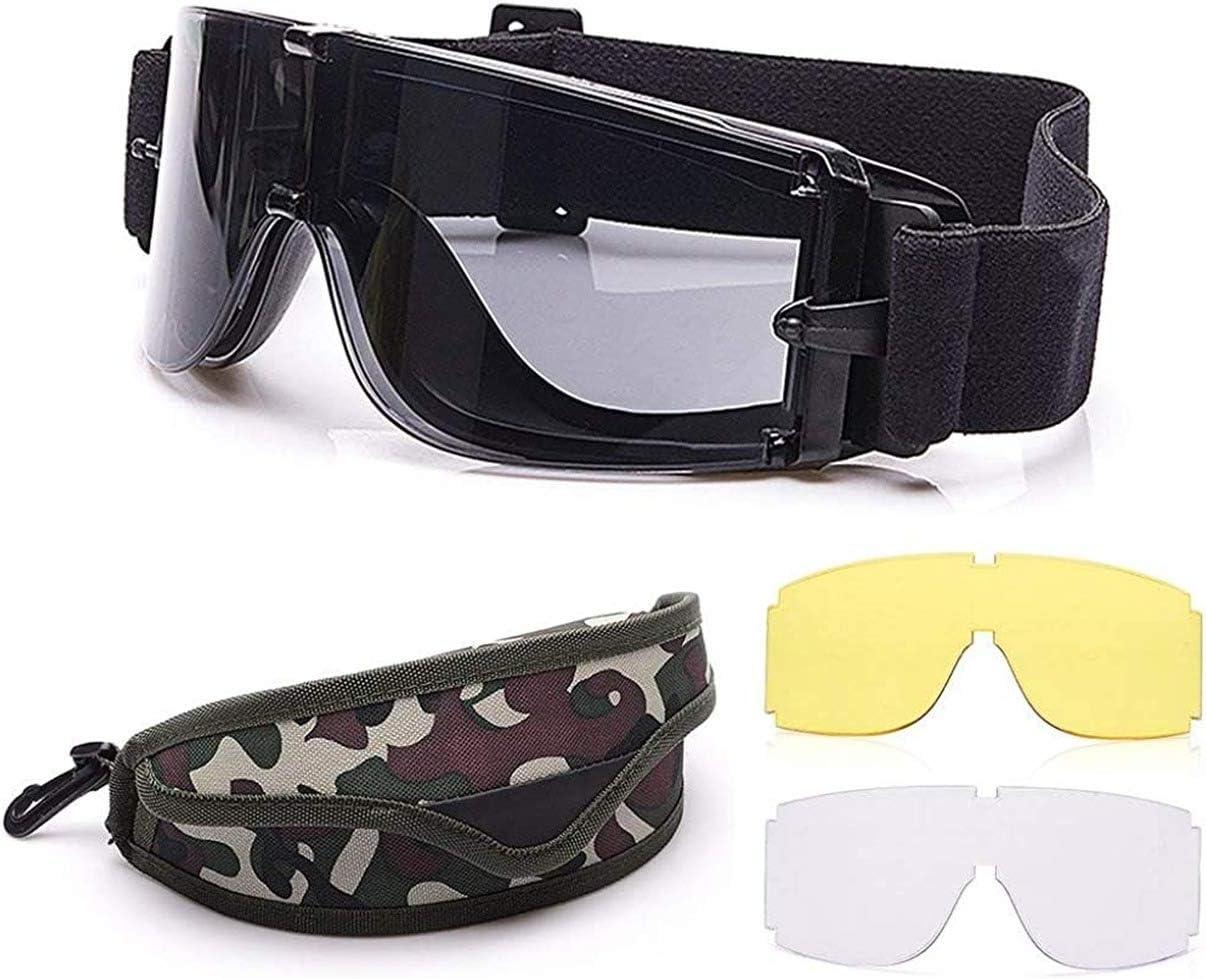 Gafas tácticas para airsoft, gafas de seguridad, militares, protección de los ojos, gafas de caza para tiro, militares, X800, airsoft, paintball, UV400