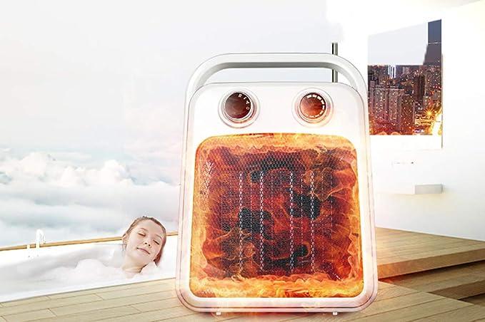 Productos finos Calentador Casero Mini Calefacción Eléctrica Dormitorio Oficina Baño A Prueba De Agua Calentador De Ventilador Caliente Caliente (22 * 12 ...