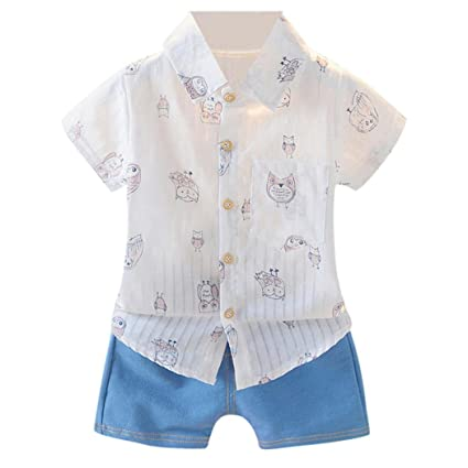 d3c8e45753d8 Amazon.com  Jchen(TM) Hot Sales! Toddler Baby Kids Boys Short Sleeve ...
