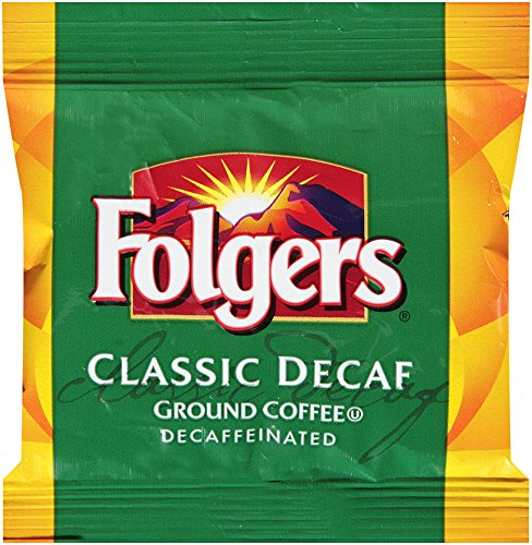 Folgers Classic Decaf Ground Coffee, 0.9 Ounce (Pack of 36)