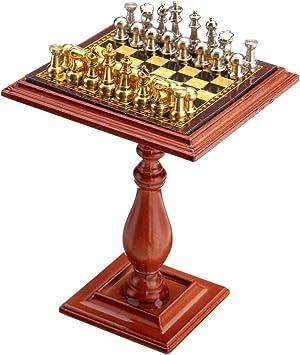 Amazon.es: AVANI EXCHANGE Juego de ajedrez en Miniatura e imán de Mesa Piezas de ajedrez 1:12 Accesorios para casa de muñecas Piezas para casa de muñecas: Juguetes y juegos