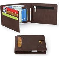 Vemingo Portafoglio Uomo con Clip Protezione RFID in Pelle PU   Portafoglio con Fermasoldi e Portamonete Porta Carte di Credito Carta d'Identità Portafoglio Piccolo Sottile Elegante Compatto
