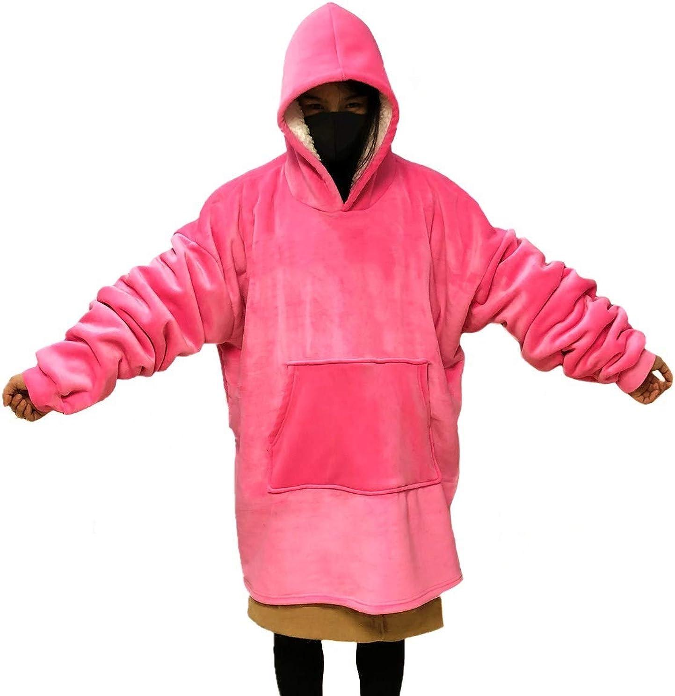MONOBLANKS Giant Warm Oversized Blanket Sweatshirt for Men Women,Soft and Comfortable Pocket Sherpa Hoodie